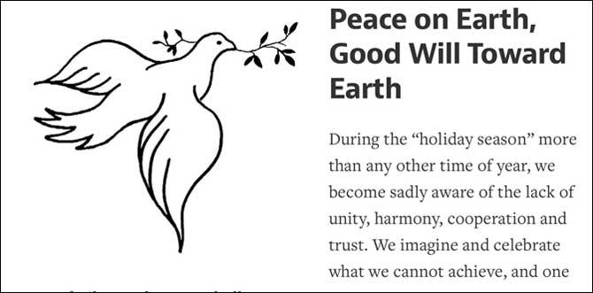 Good Will Toward Earth
